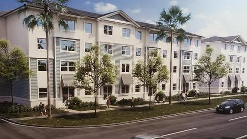 The Dania Beach Housing Authority wants to build the Saratoga Crossings affordable apartments at 705 W. Dania Beach Blvd.