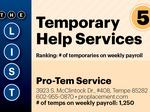 Top of the Phoenix Lists: Temporary Help Services