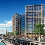 The Wharf's first trophy building is almost complete. Here's the latest on the $150M project.