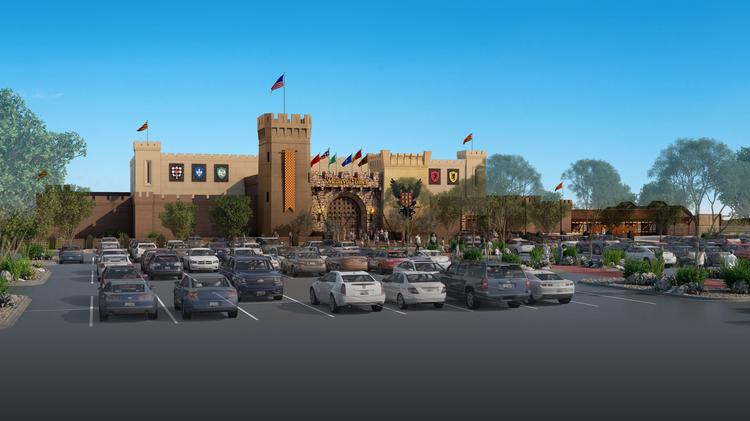 A rendering of Medieval Times' Arizona castle, set to open in 2019. The project is one of many new additions in the Salt River entertainment corridor.