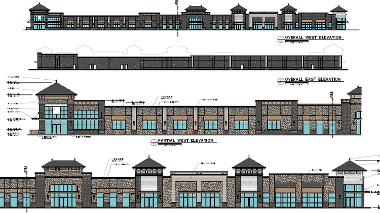 Th retail component of the Eagle Creek planned development commercial center.