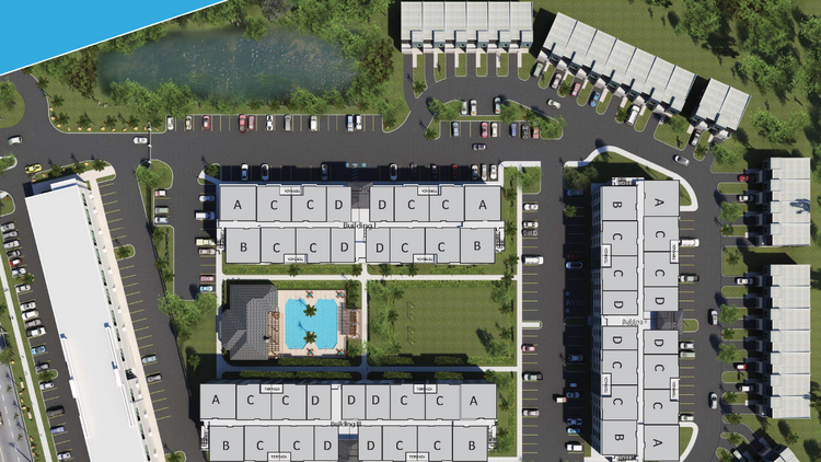 Rendering of the Sandlake Station apartments