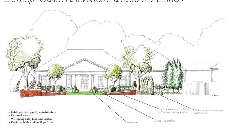 A rendering of the Liz and Tommy Farnsworth Education Building at the Dixon Gallery