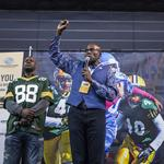 Scenes from Packers Tailgate Tour stop with Boys & Girls Clubs of Milwaukee