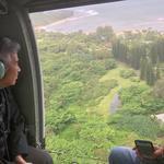 Hawaii governor examines flood damage on Kauai as Hanalei Bridge reopens