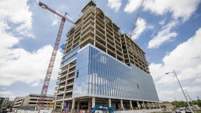 A big new tech HQ rises high above North Austin