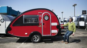 Haulin' small: For NuCamp and other RV manufacturers, teardrop campers and other tiny models are hot-sellers