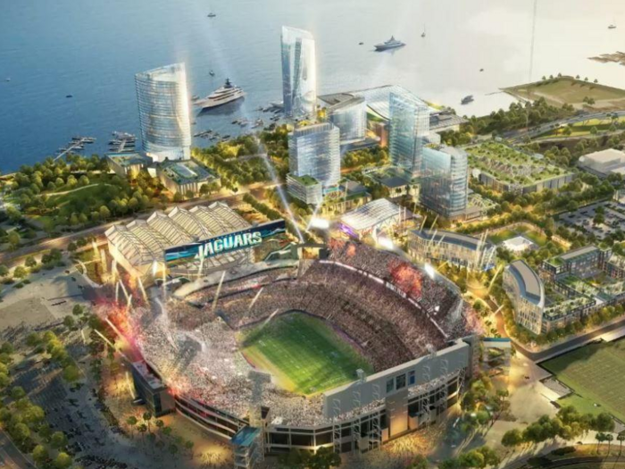 Jaguars hire developer for $2 billion downtown entertainment-sports district
