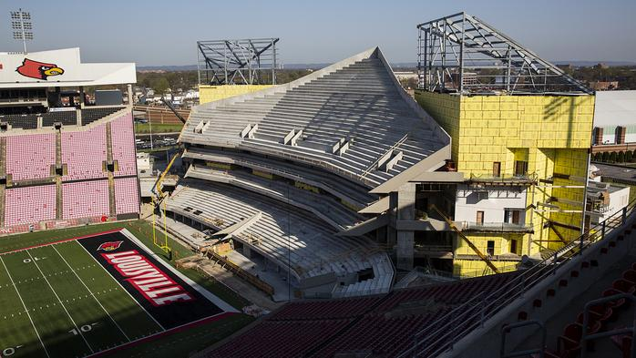 Check out the progress on the $63M Papa John's Cardinal Stadium expansion (PHOTOS)