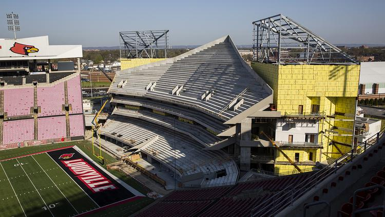 Check Out Where Work Stands On The Papa Johns Cardinal Stadium
