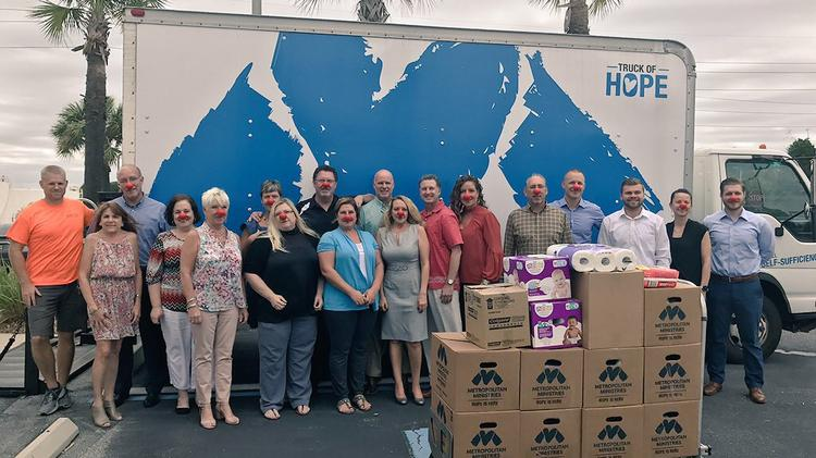 Spectra Contract Flooring Employees Collected Over 2,600 Toiletry Items For  Metropolitan Ministries
