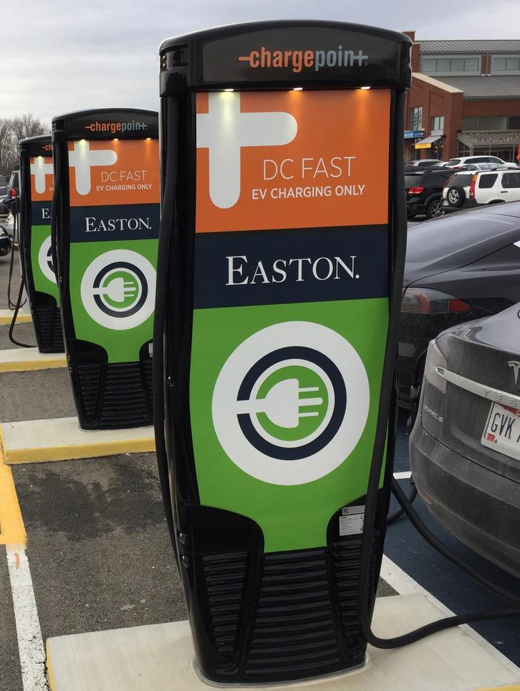 A Chargepoint Inc Electric Vehicle Charging Stations At Easton Town Center In Columbus An