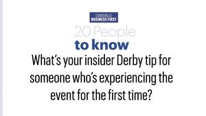 We asked: 'What's your insider Derby tip for someone who's experiencing the event for the first time?'