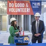 Executives check out construction of United Way Volunteer Center: Slideshow