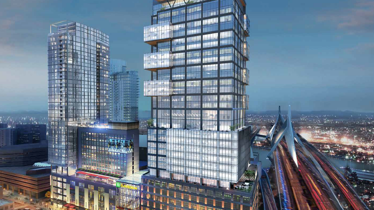 North Station office tower, which Verizon's Oath could anchor, gets