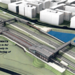 Entrance cut from planned Potomac Yard Metro station