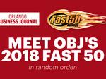 Unlocked: Meet the 2018 Fast 50, Central Florida's fastest-growing firms