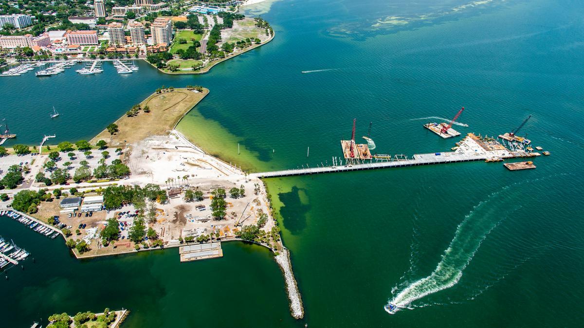 See Progress Of St Petersburg Pier Construction Photos