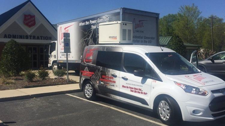 Cantor Systems Which Has Services Vehicles Seen Here At The Greensboro Salvation Army