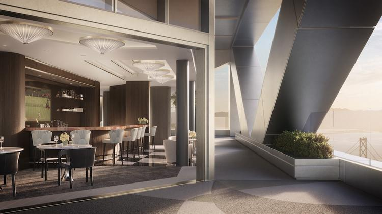 The Amenities level at 181 Fremont