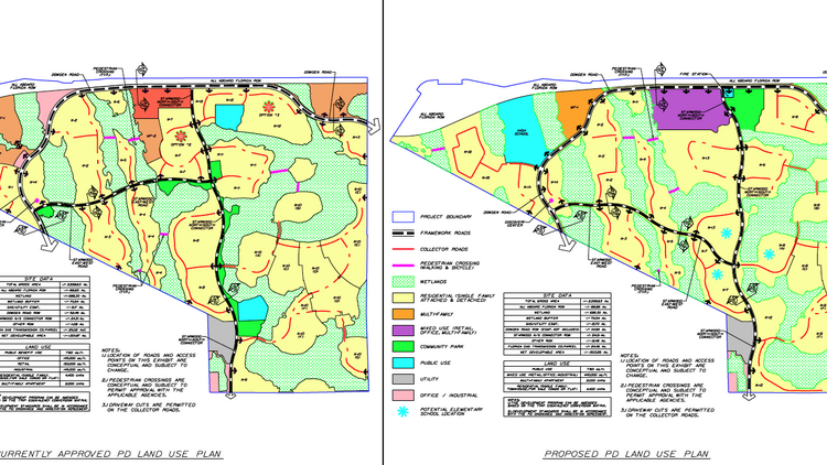 Starwood's previously approved land-use plan and newly proposed plan