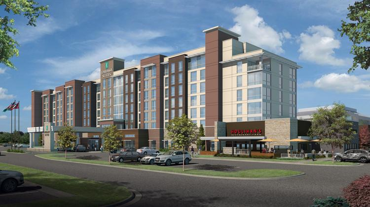 Emby Suites Hotel And Houlihan S Is Being Built Near Arkansas State New Convention Center