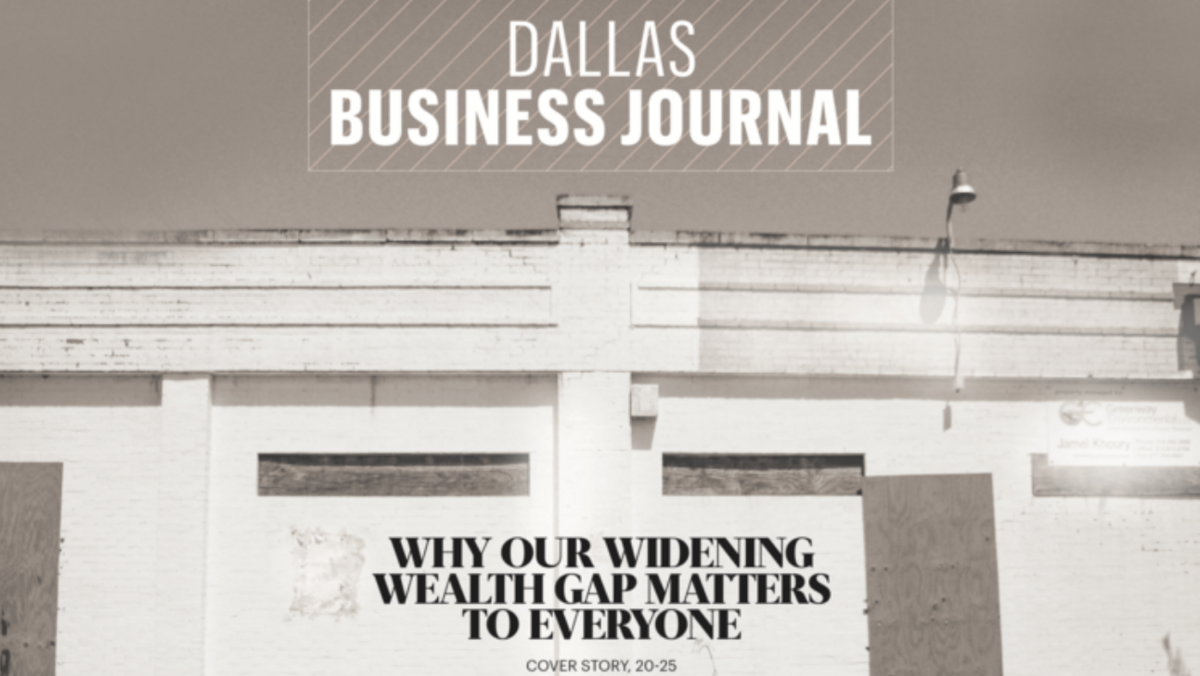 Feeling Alone As Opportunity Gap Widens >> How The Increasing Income Gap In The Dallas Fort Worth Region