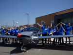Maize students roll out airplane built for Airbus Flying Challenge