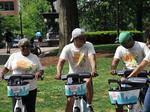 Memphis rolls out bike share with glide riders, Memphis Zoo, Semmes Murphey contingents