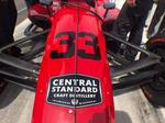 IndyCar bearing Central Standard Craft Distillery logo racing in Sunday's Indianapolis 500