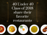 40 Under 40 2018 honorees share their favorite restaurants