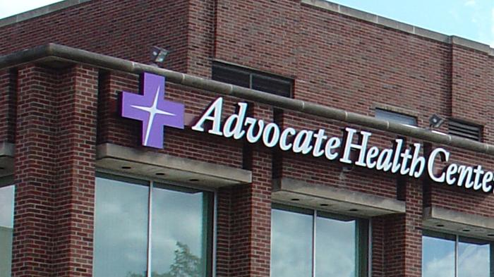 Advocate Health sign on a Chicago clinic