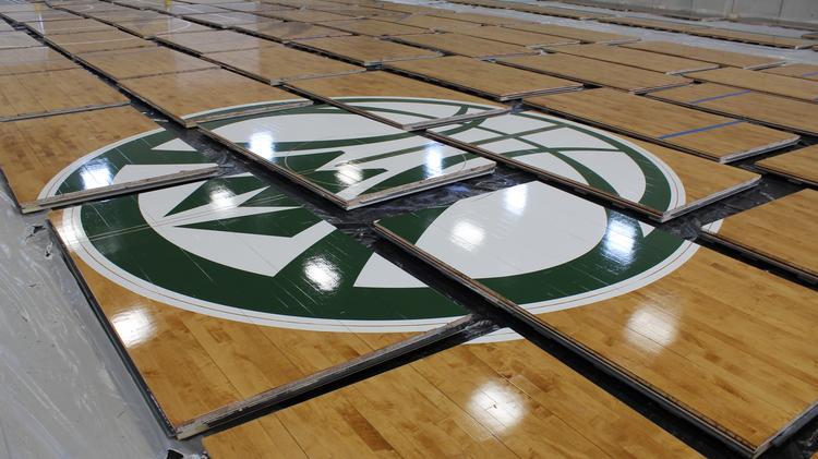 Prostar Finishing Bucks New Basketball Floors At Century City