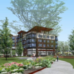 Construction has begun on high-end apartments in Kent