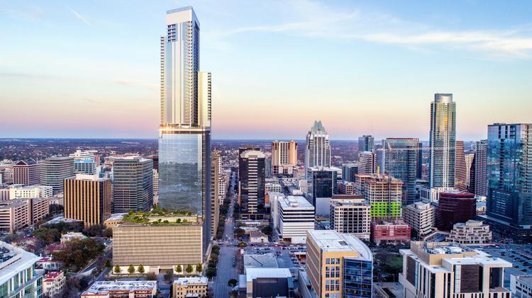 20 huge changes coming to austins skyline austin business journal plans for the tower at 600 guadalupe street are taking shape and the developers with kairoi malvernweather Gallery