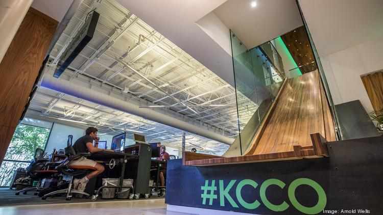 Chive Office Playful kcco Keep Calm And Chive On And Keep Your Cool When Going Down The Business Journals Vote For Austins Coolest Office Final Round Austin Business Journal