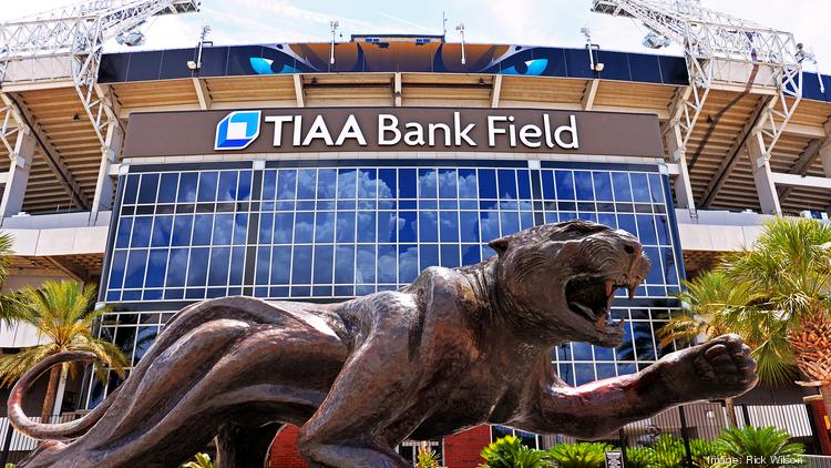 Exterior Image Of New TIAA Bank Stadium Signage, Home Of The Jacksonville  Jaguars, Thursday