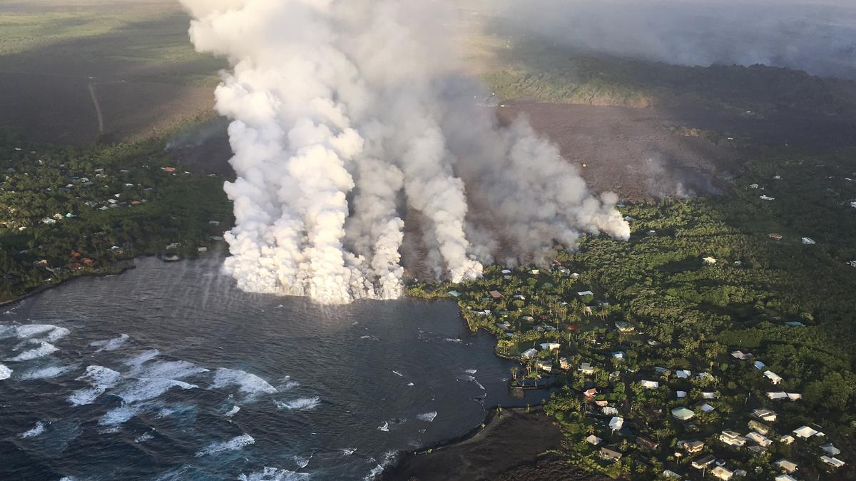 Lava From Kilauea Volcano Destroys Hundreds Of Homes On