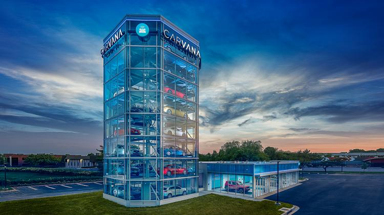 carvana co opens used car vending machine in gaithersburg