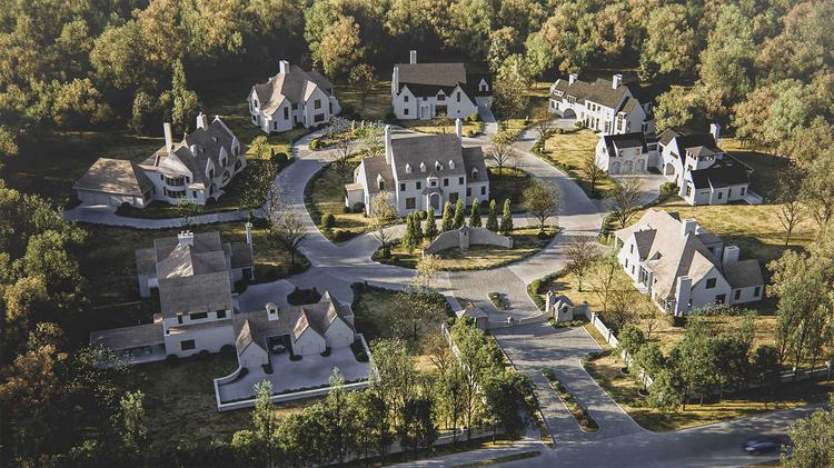 Charlotte Based Grandfather Homes Is Planning To Build Seven Estates Homes  Around An Existing Manor