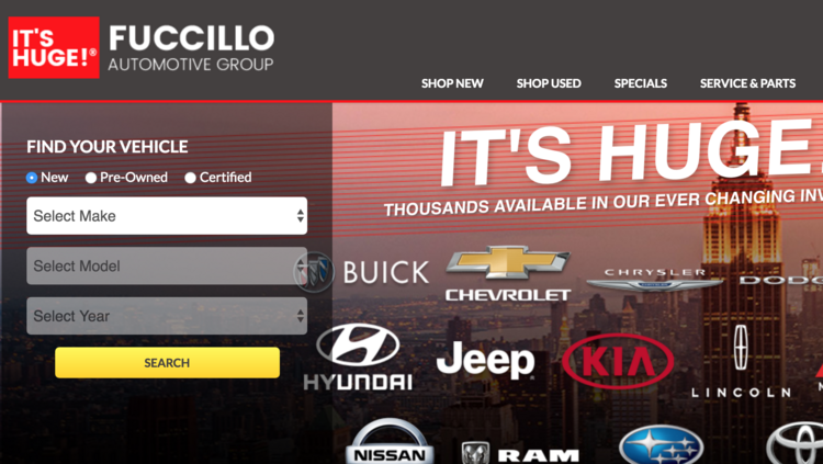 Fuccillo Website Screenshot