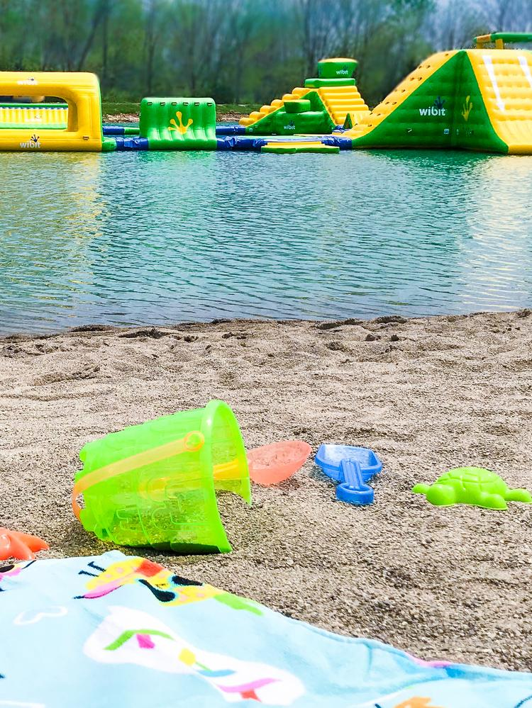 Amenities At Land Of Illusion S Aqua Adventures In Middletown Include A Beach With Real Sand