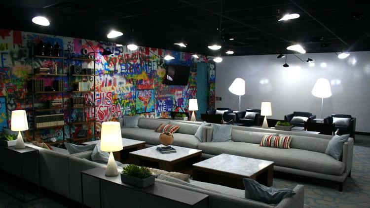 One of the rooms in the company's newest office space after the redesign.