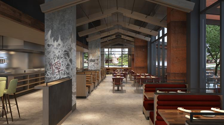 015fc2a62bf5 Rendering of International Smoke s dining area.