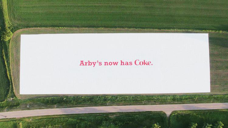 Arby's said it chose to display the ad in Monowi, Neb — population: one — on the property of Elsie Eiler, who has been an Arby's and Coca-Cola customer her entire life.