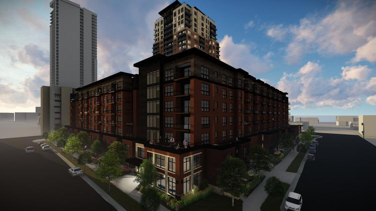 This Is Rendering Of The Expo, A 25 Story Apartment Project Near St.