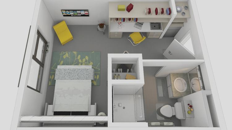 An Overhead View Shows The Layout Of Micro Units In Vibrant Cities Two Planned