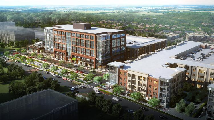 This office building (left) and apartment complex (right) are part of the first phase of McEwen Northside. The $140 million first phase and infrastructure work will include 183,000 square feet of office space, 274 apartments, 26,000 square feet of retail and three standalone restaurants.