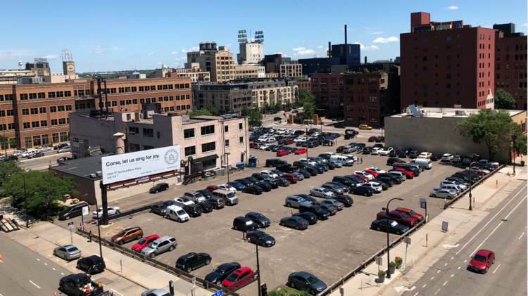 Developer Plans To Build Two Apartment Buildings Parking On Downtown Minneapolis Lot