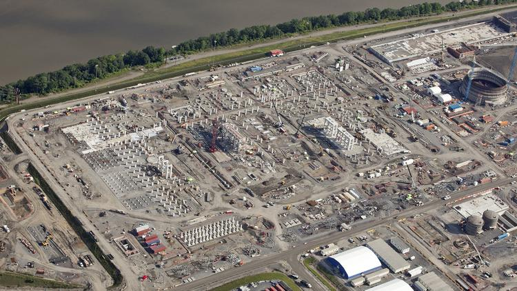 See the Shell ethane cracker plant rise from the ground in